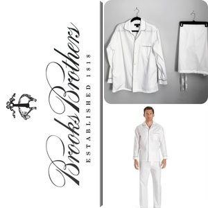 Brooks Brothers White PJ's Size Medium